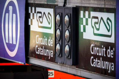 F1 Test Days 2013 Barcelone - Circuit de Catalunya - feux ligne de départ