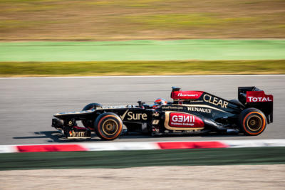 F1 Test Days 2013 Barcelone - Romain Grosjean - Lotus
