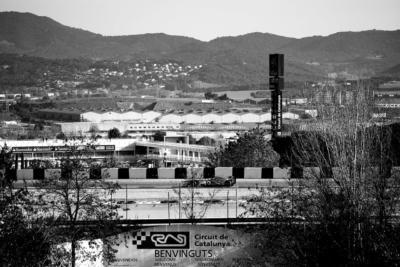 F1 Test Days 2013 Barcelone - Circuit de Catalunya noir et blanc