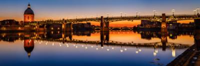 Panoramique du Pont Saint-Pierre de Toulouse, Garonne et dôme de La Grave - Frédéric Roustit