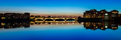 Panoramique du Pont des Catalans qui enjambe la Garonne à Toulouse - Frédéric Roustit