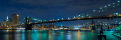 New York - Brooklyn Bridge and Manhattan Bridge