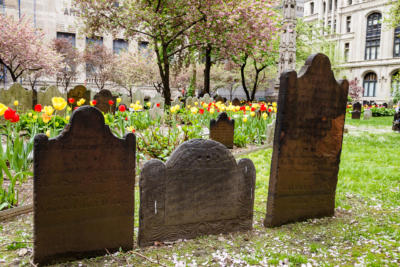 New York - Manhattan - Trinity church cemetery