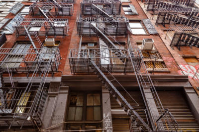 New York - Manhattan - Fire escape ladder